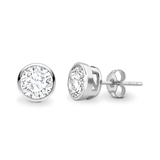 Brilliant cut solitaire earrings_