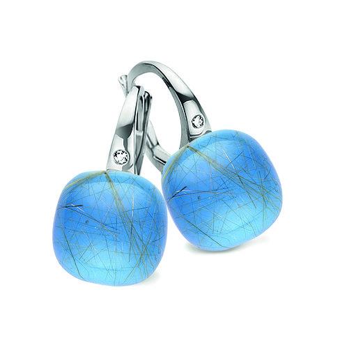 Mini Sweety met rutiel quartz, blauwe agaat en parelmoer