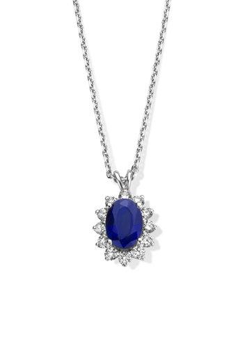 Orsini - Hanger met saffier en diamant