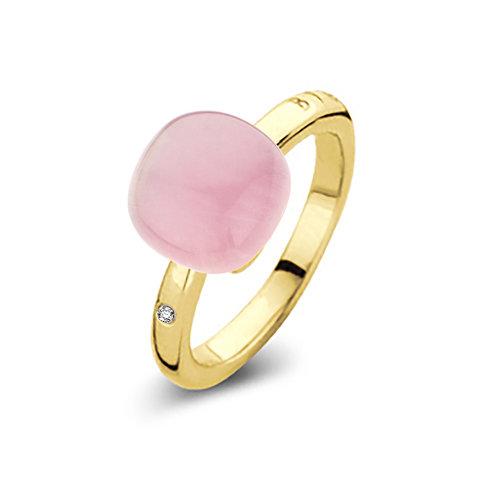 Mini Sweety met roze quartz met robijn