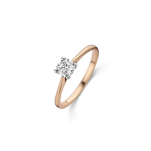Brilliant cut solitaire ring