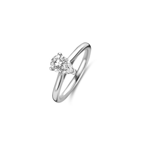 Peer geslepen solitaire ring