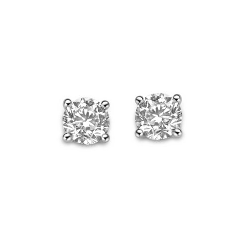 Brilliant cut solitaire earrings