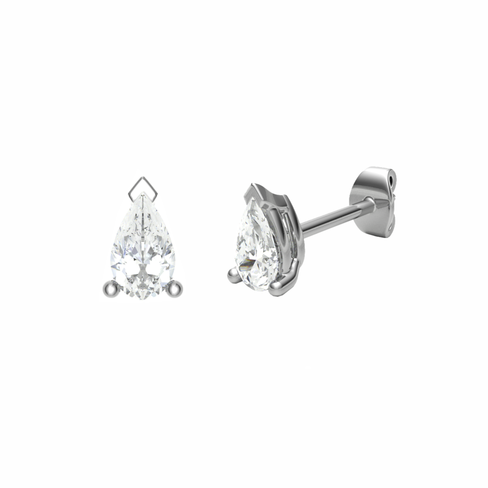 Pear cut solitaire earrings