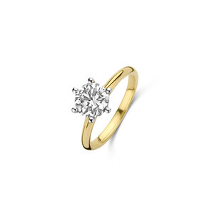 Briljant geslepen solitaire ring