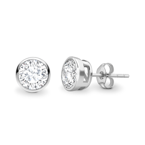 Brilliant cut solitaire earrings